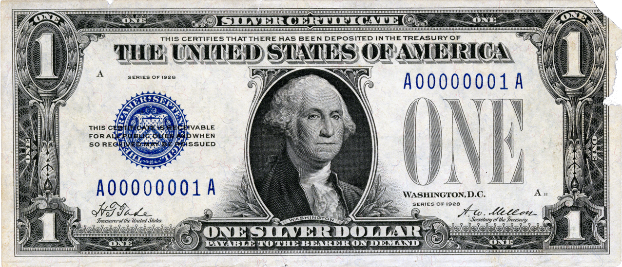 یک دلار نقره در سال ۱۹۲۸ میلادی