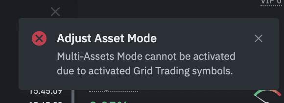 فعال نشدن حالت چند جفت ارزی (Multi-Assets)