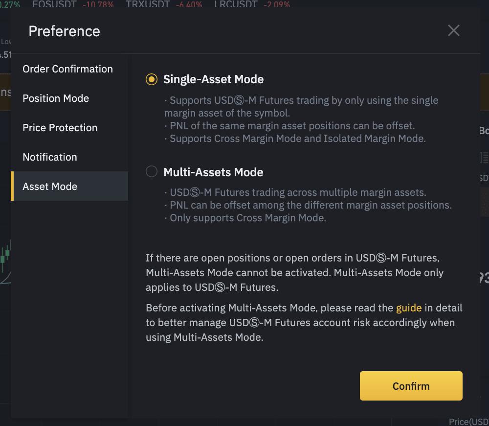 فعالسازی حالت Single-Asset Mode